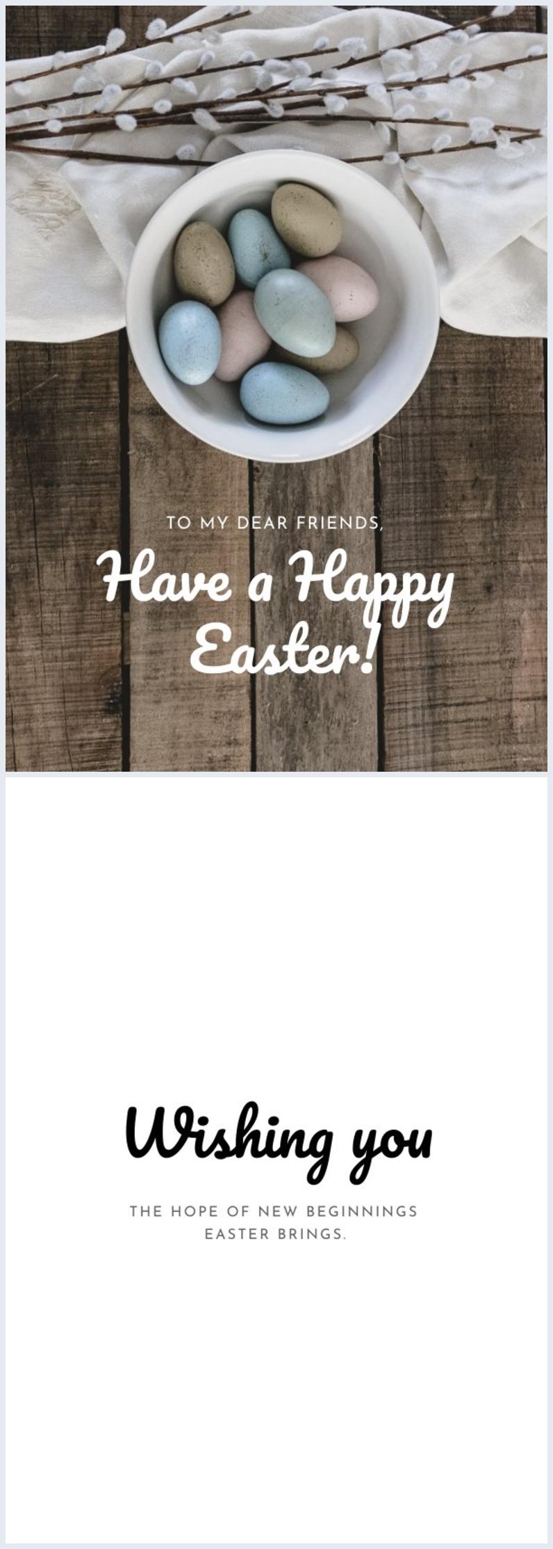 Design de carte de Pâques personnalisable