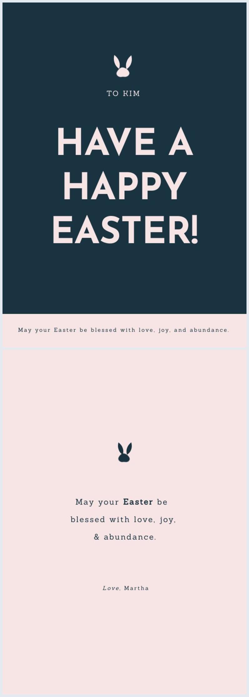Eenvoudig Gratis Paaskaart Sjabloon