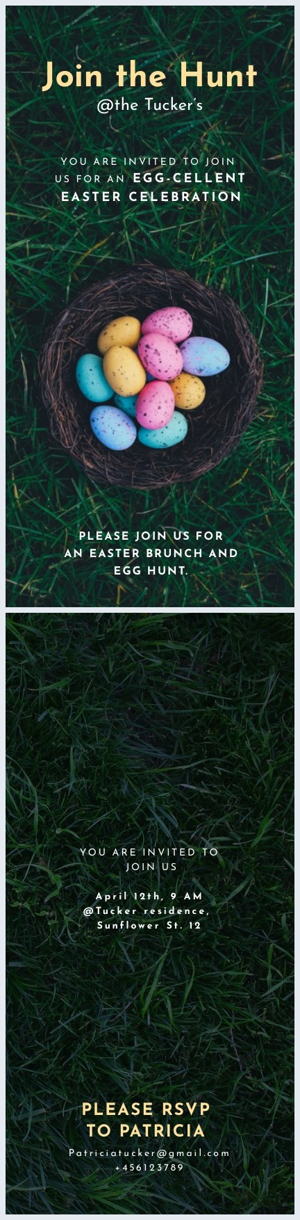 Printable Easter Egg Hunt Flyer Template