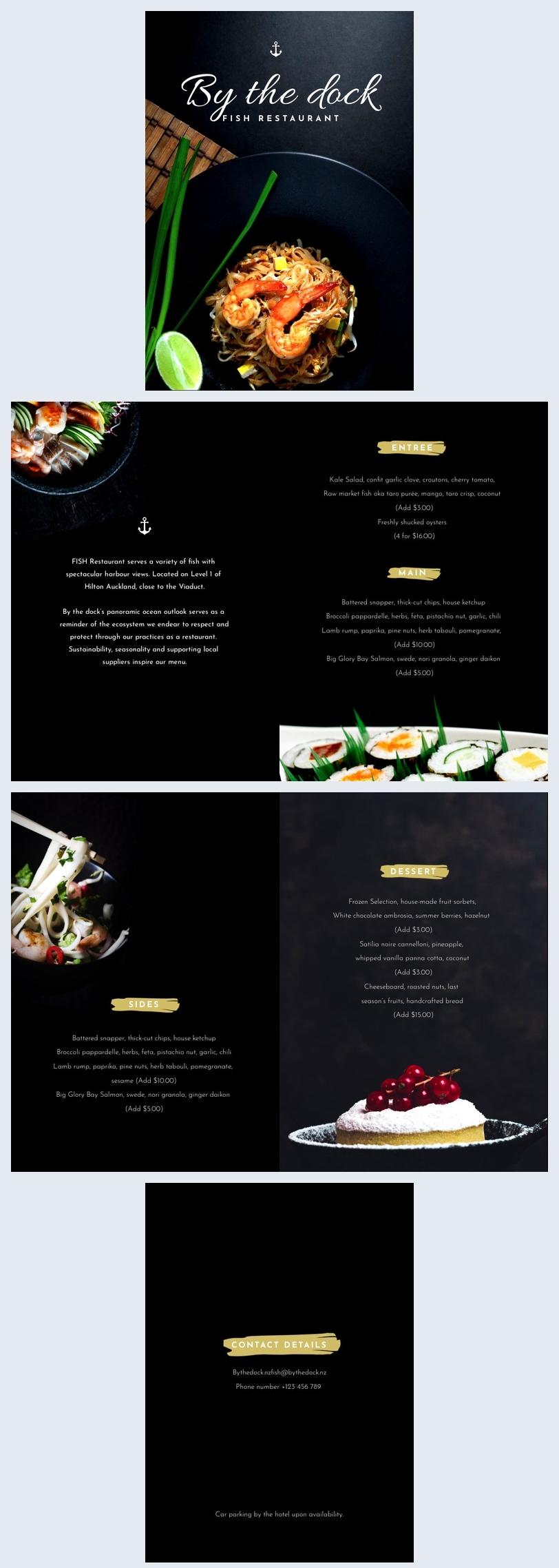 Modèle de brochure de restaurant. Commencez à éditer