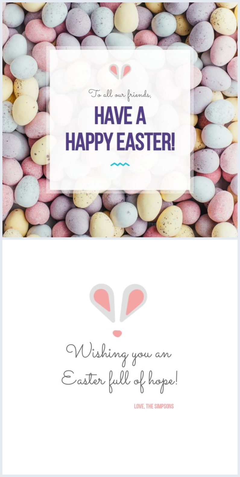 Happy Easter Card Template & Design