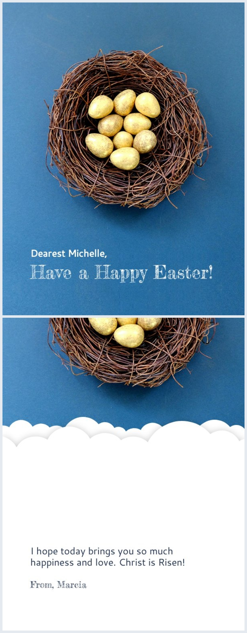 Customizable Happy Easter Card Message & Design
