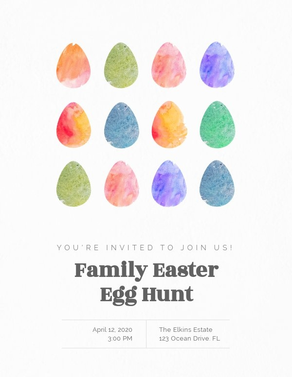 Easter Egg Hunt Event Invitation Template