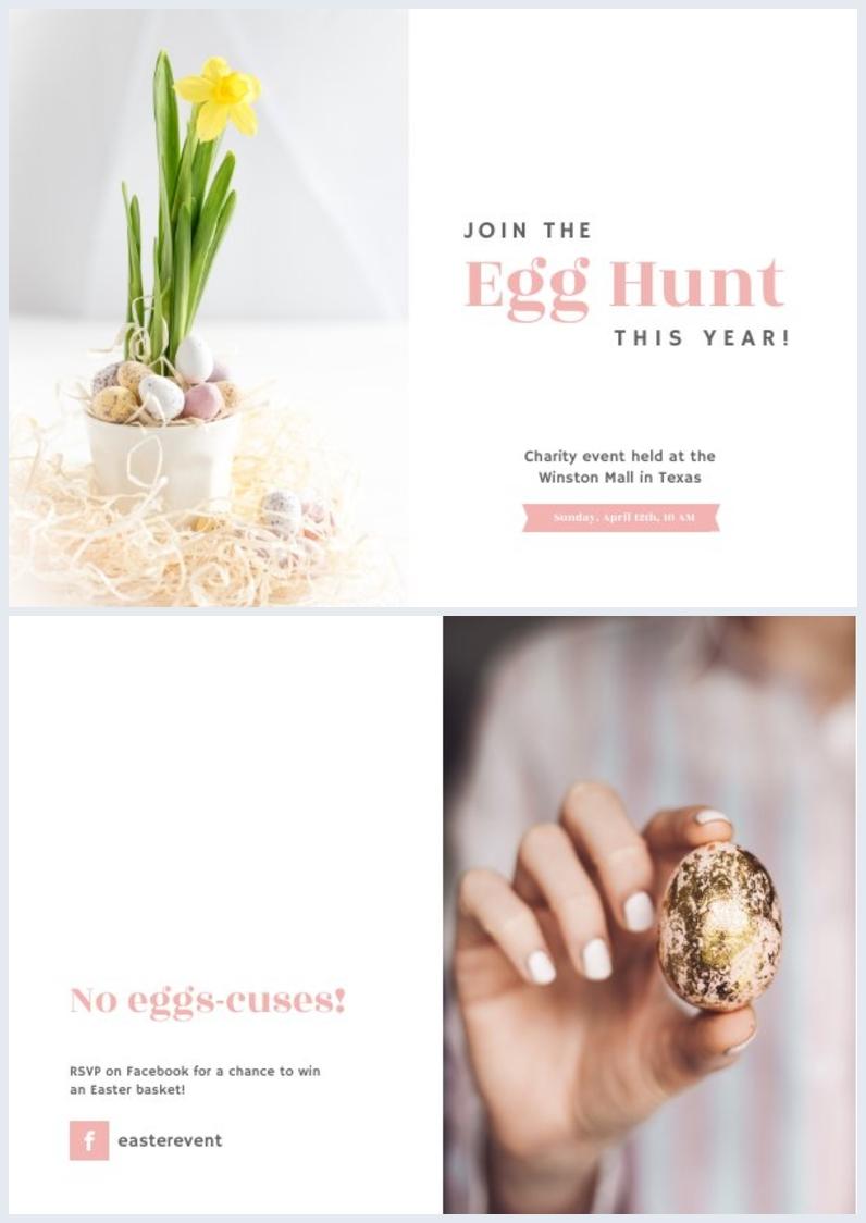 Plantilla para invitación a búsqueda de huevos de Pascua
