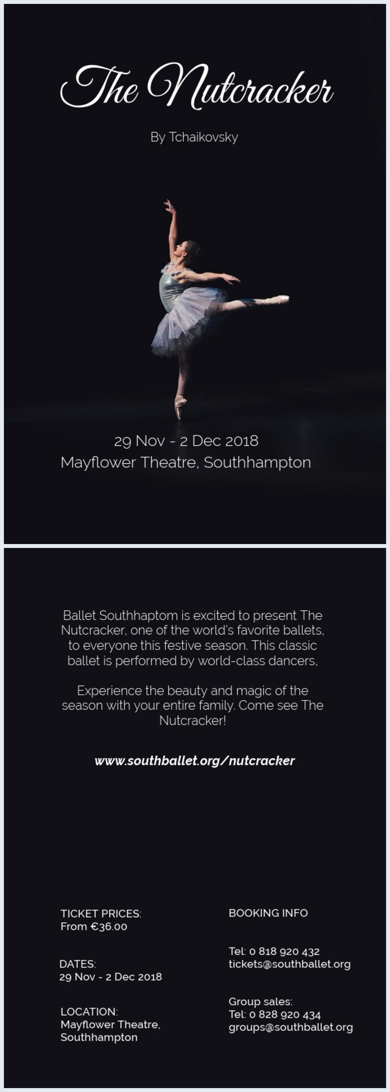 Ballet Dance Flyer Design