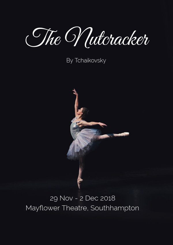 beautiful ballet dance flyer  u0026 poster template