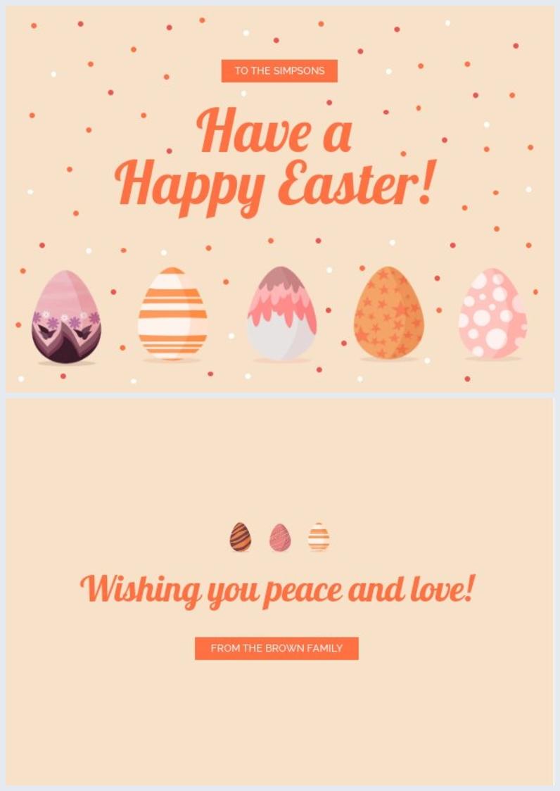 Diseño para elaborar una tarjeta de Felices Pascuas