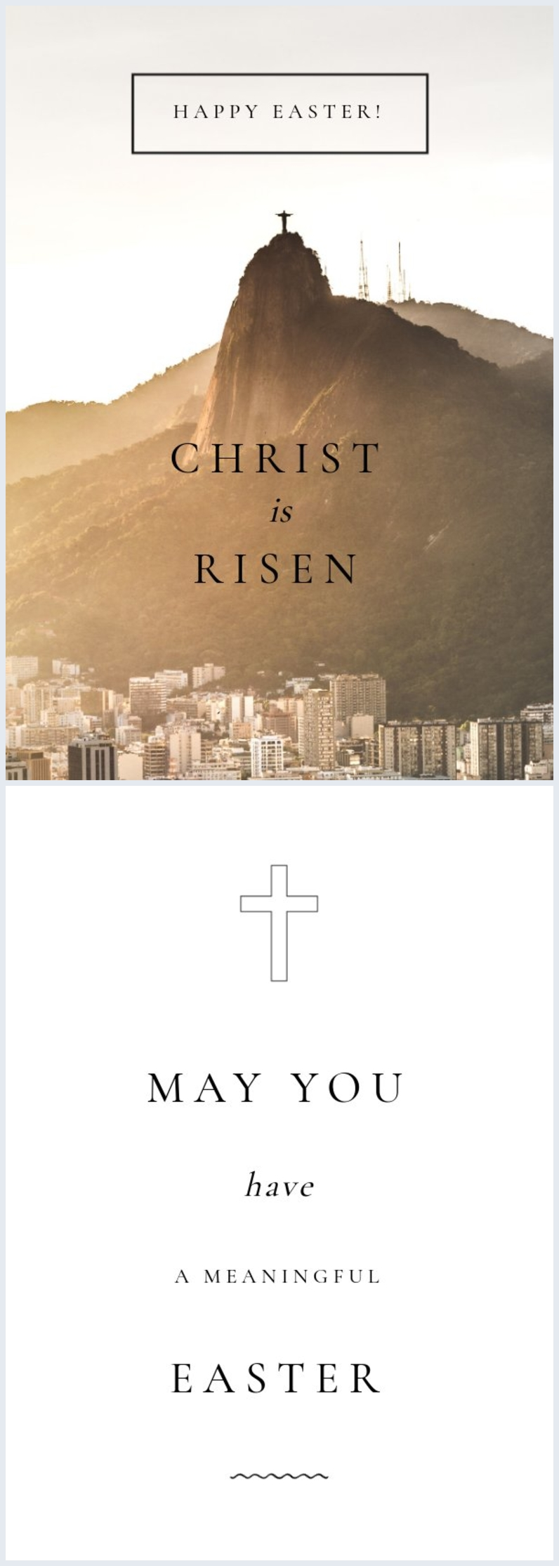 Religious Easter Greeting Card Design