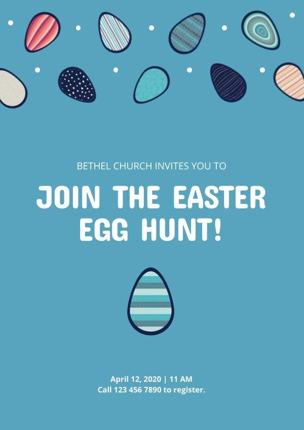 Easter Event Invitation Template & Design