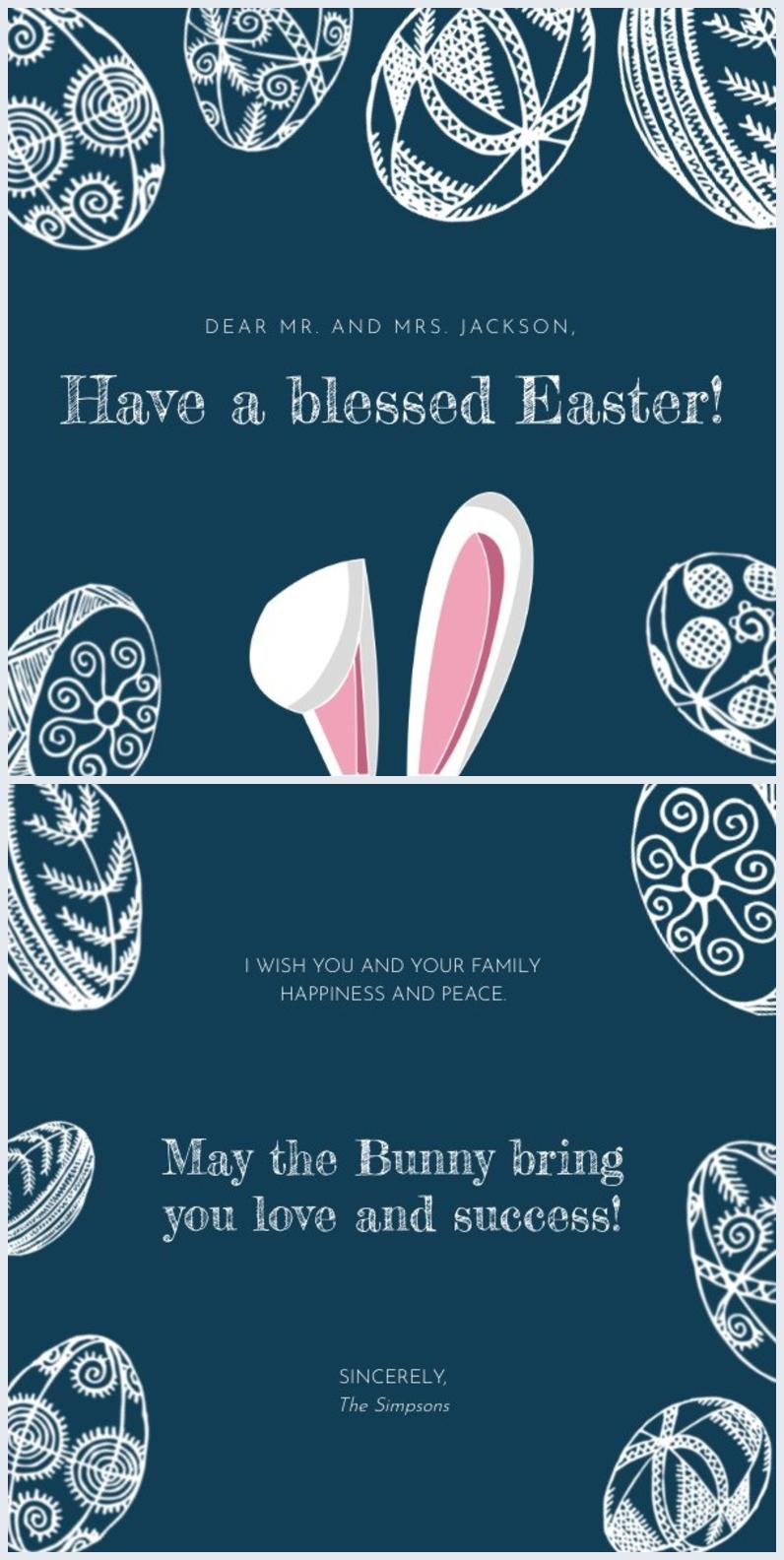 Playful Bunny Card Template Design