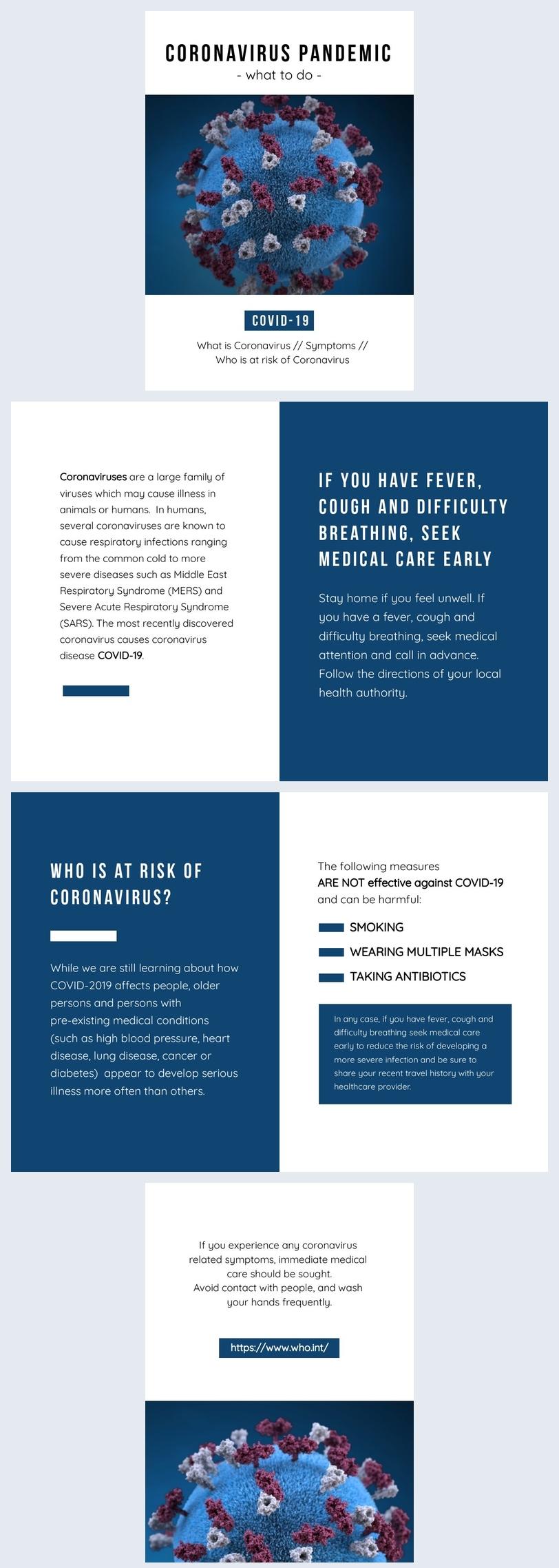 Coronavirus guide template design