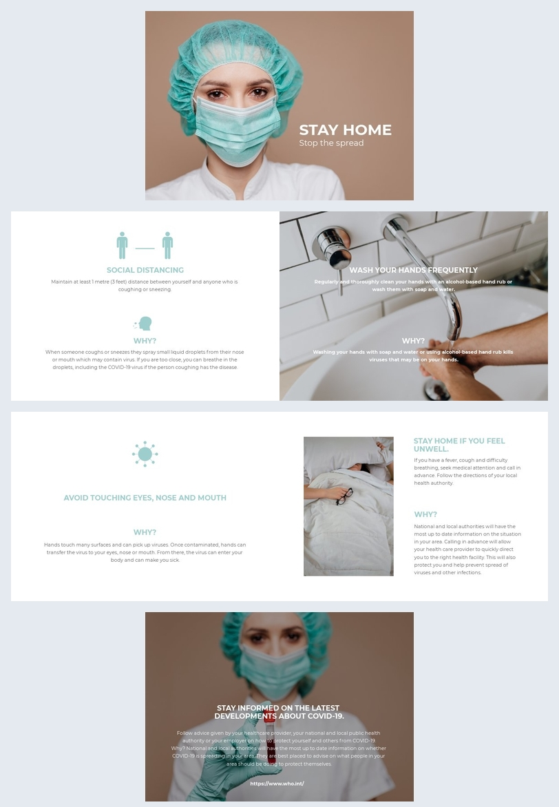 Coronavirus brochure template design