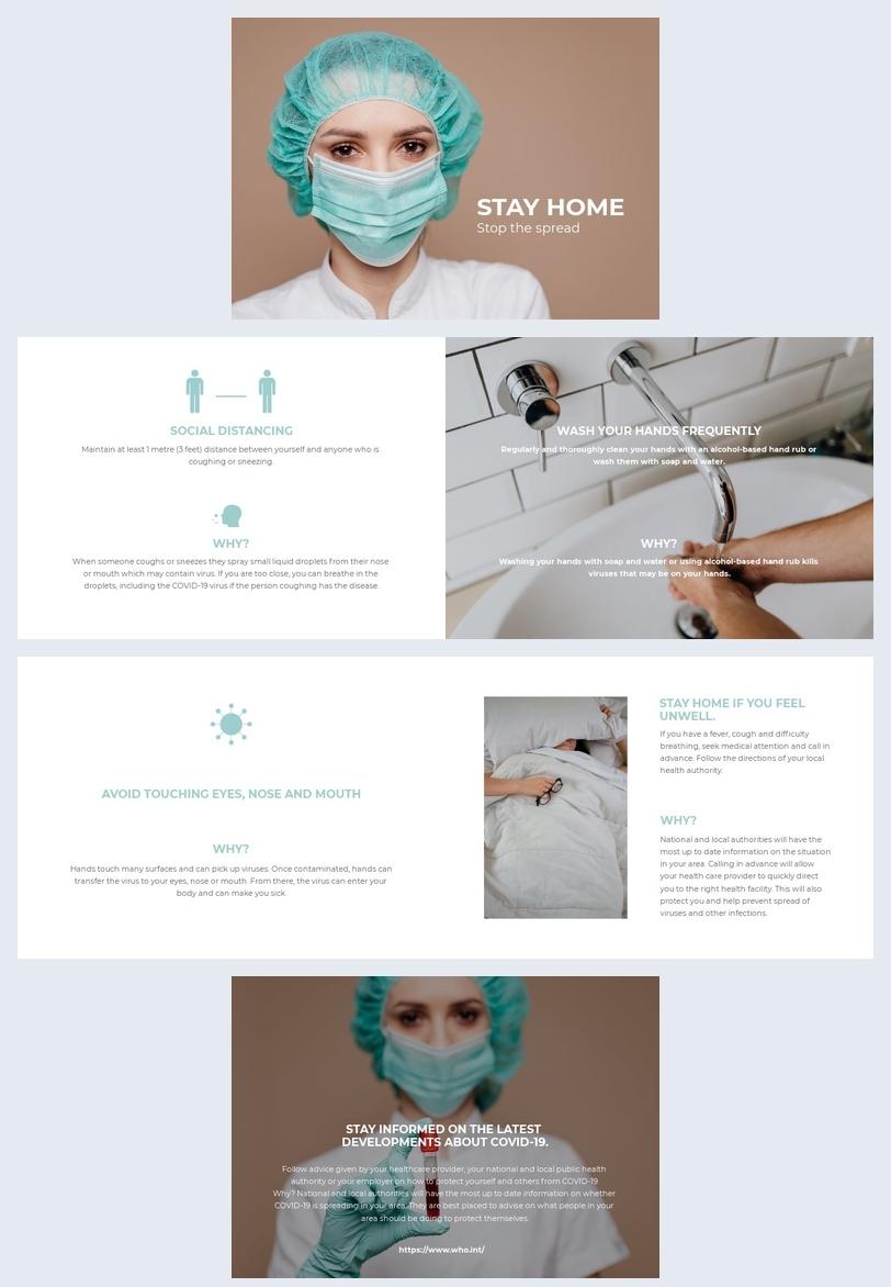 Diseño de plantilla de folleto para el  Coronavirus