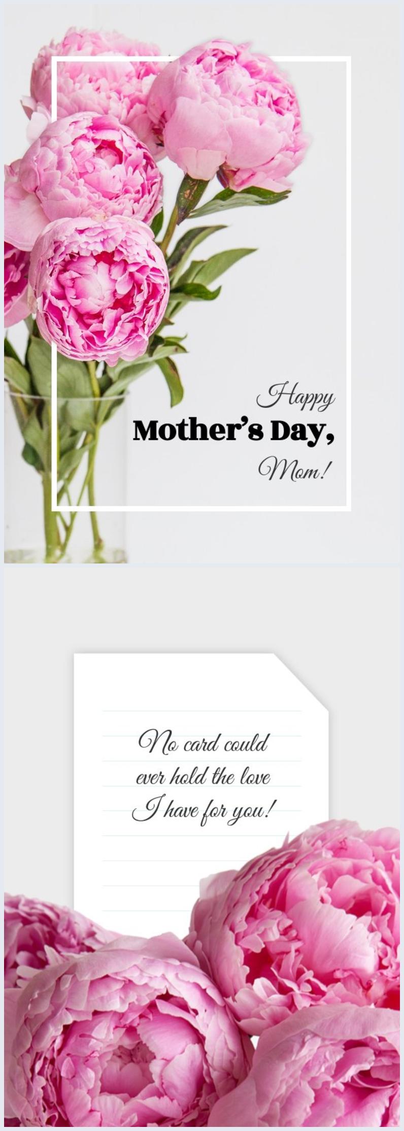 Plantilla y diseño para tarjeta del Día de la madre