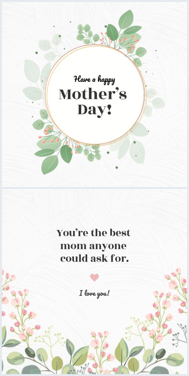 Elegant Mother's Day card template