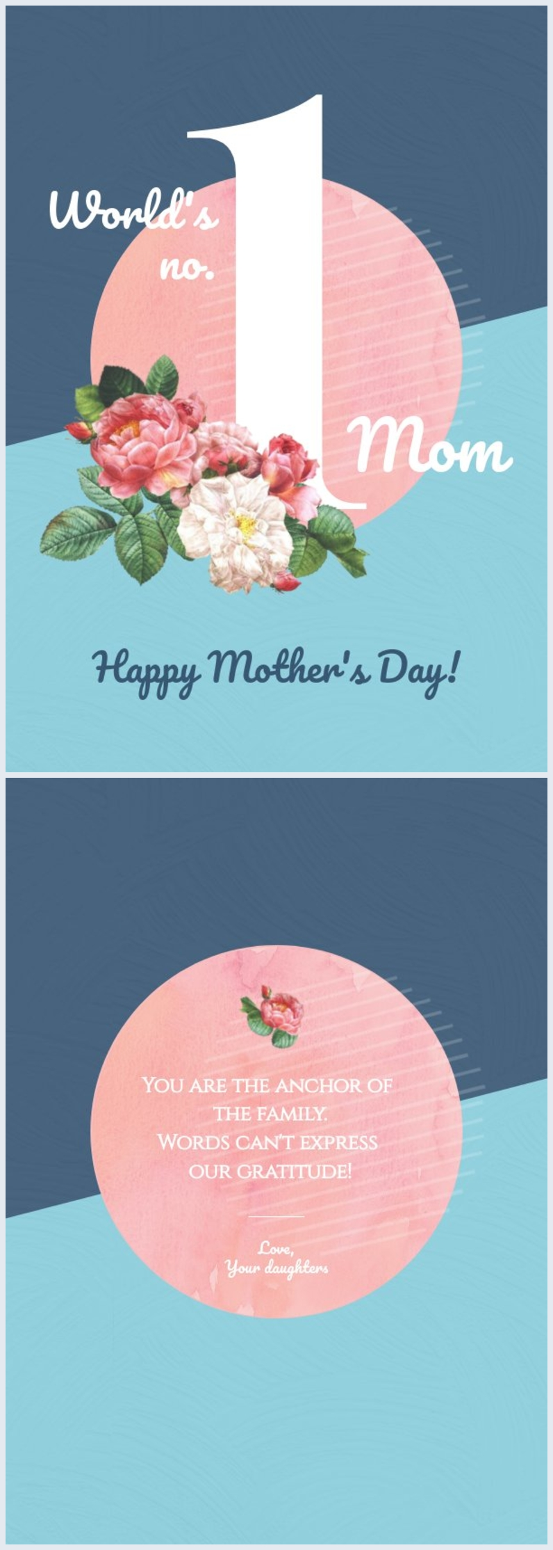 Creative Mother's Day card layout example