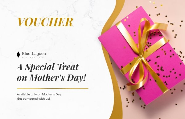 Special Mother's Day gift voucher layout