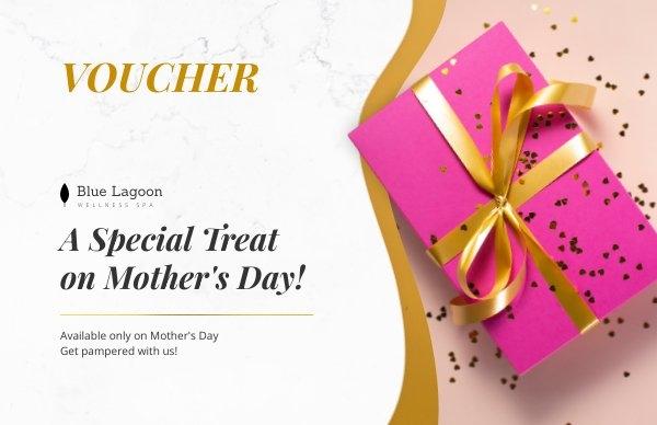 Diseño para cupón especial de regalo del Día de la madre