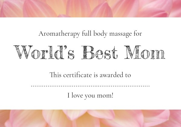 Printable Mother's Day gift certificate layout