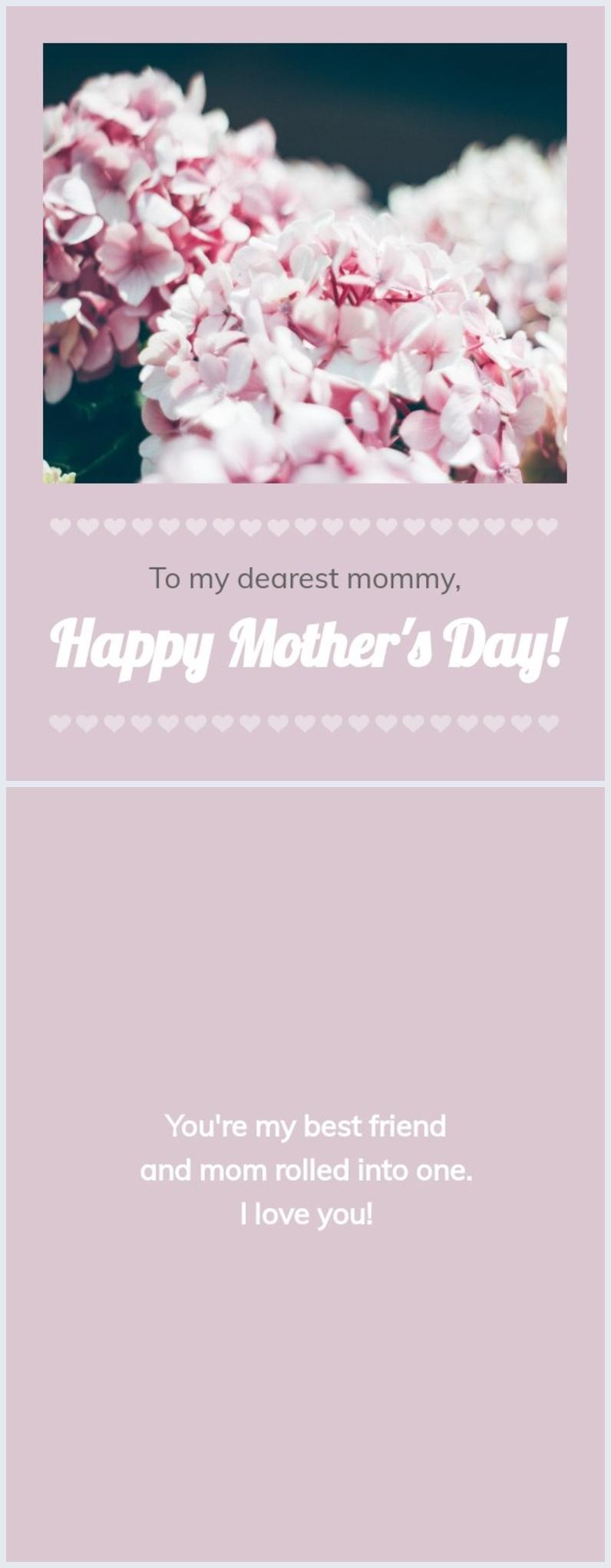 Diseño editable sin costo para tarjeta de feliz Día de la madre