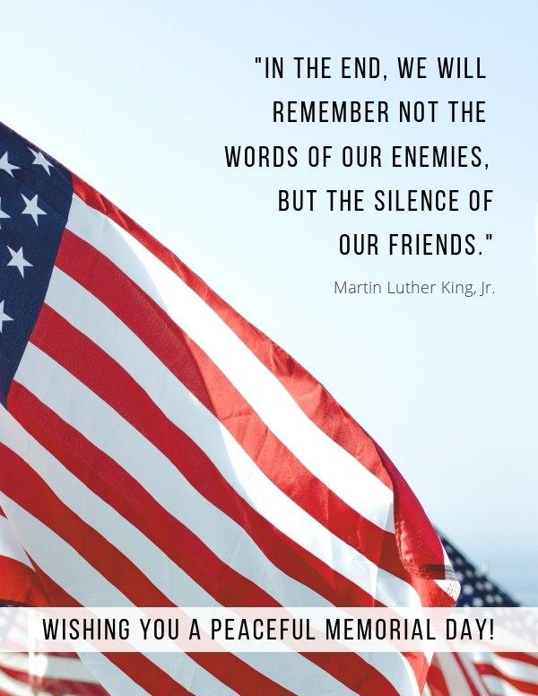 Modelo de folheto do Memorial Day da bandeira americana