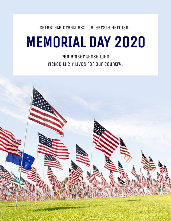 Memorial Day customizable flyer design