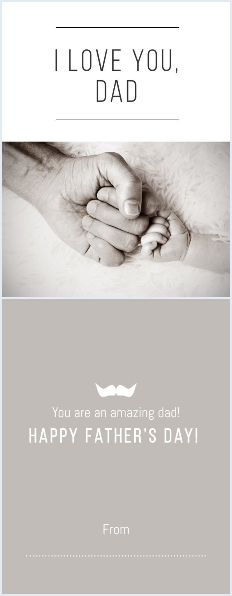 Customizable Father's Day card layout