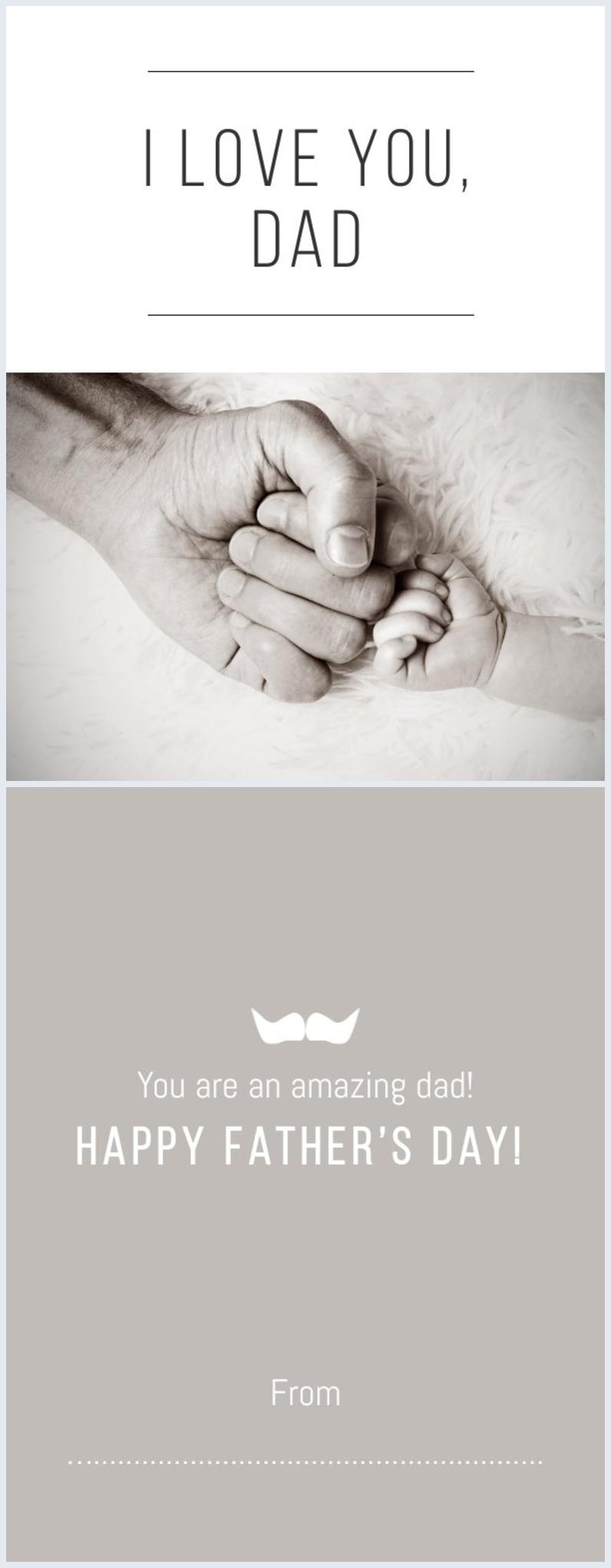 Layout personalizzabile per biglietto della Festa del papà