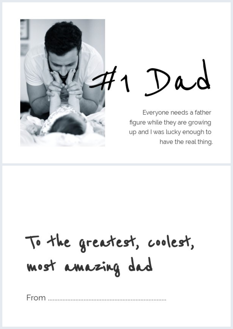 Free customizable Father's Day card layout