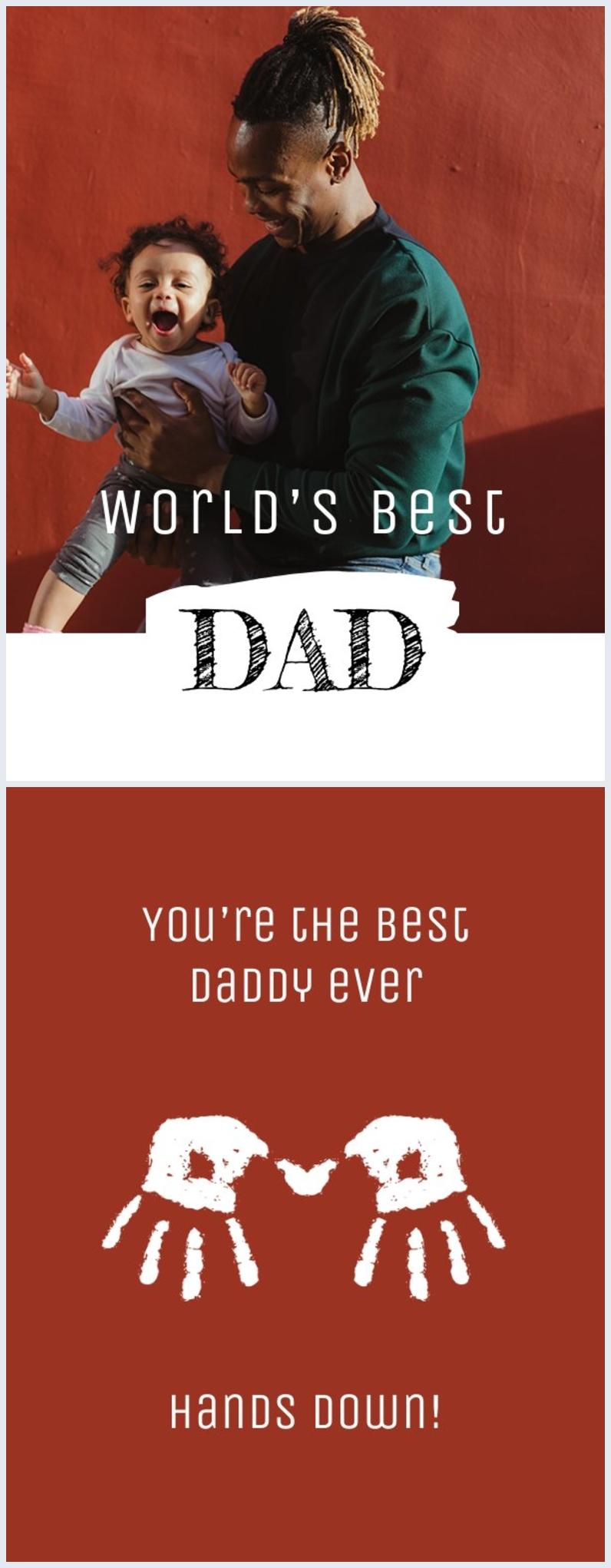 Modèle de carte personnalisable gratuit pour la fête des pères