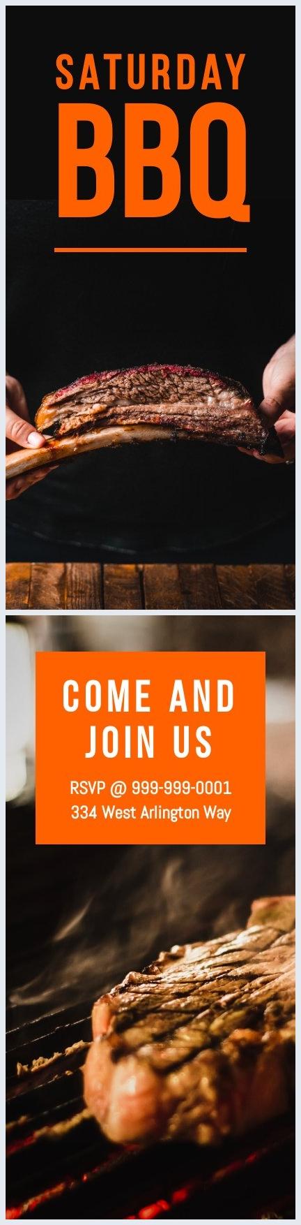 Editierbare Samstags-BBQ-Flyer-Vorlage