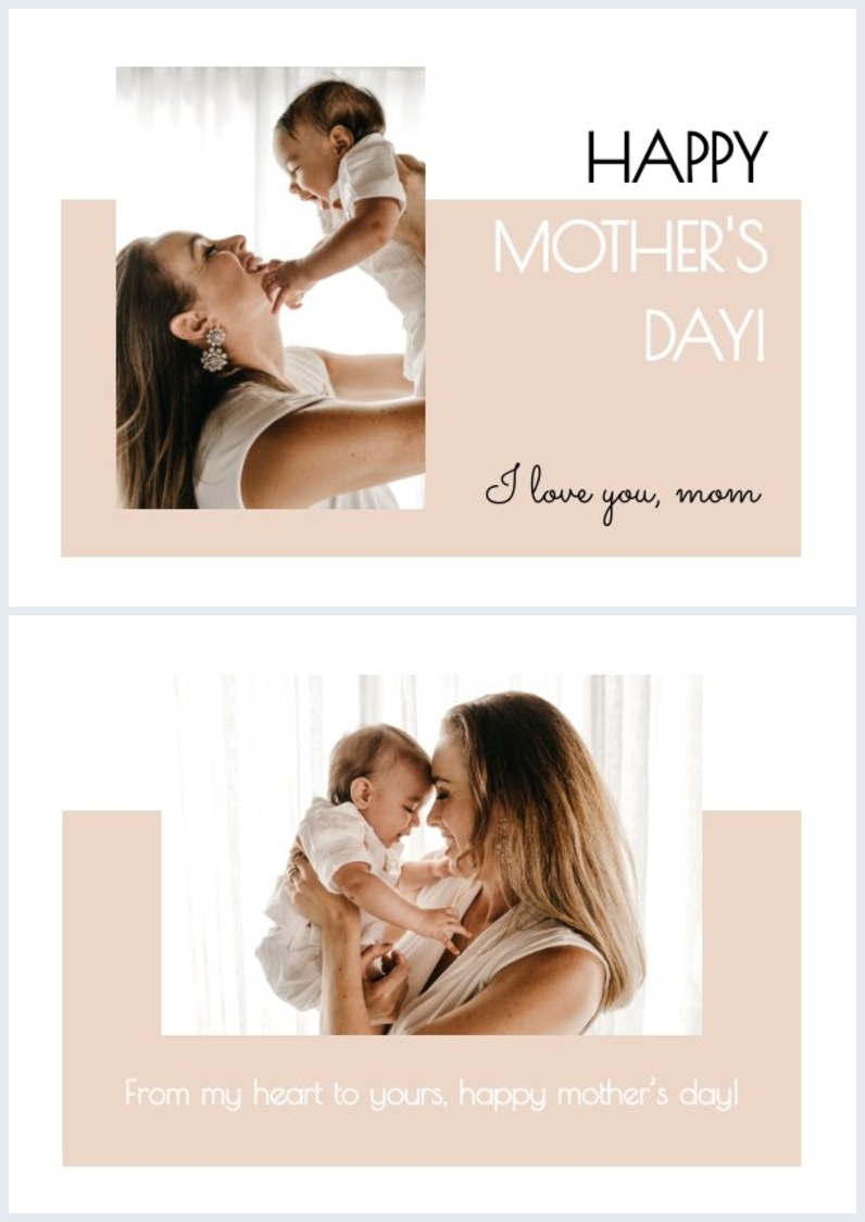 Printable Happy Mother's Day card design idea