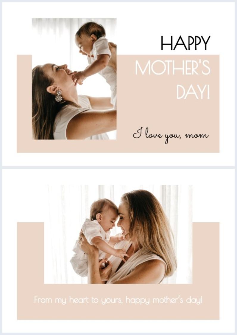 Druckbare Gestaltungsidee für eine Glückwunschkarte zum Muttertag