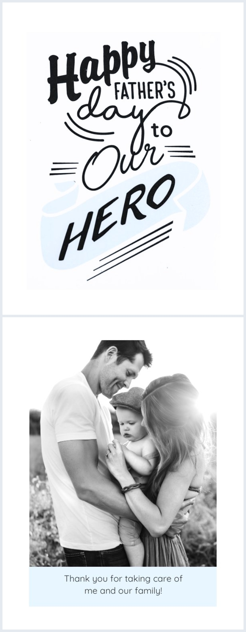 Free printable father's day card design