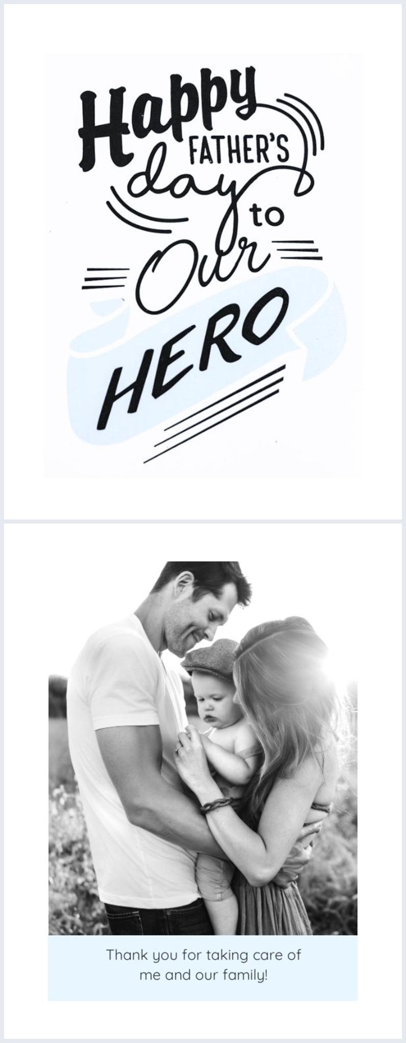 Design de carte imprimable gratuit pour la fête des pères