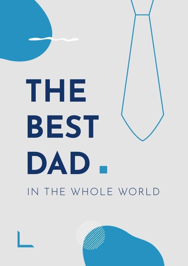 Printable best dad poster design layout