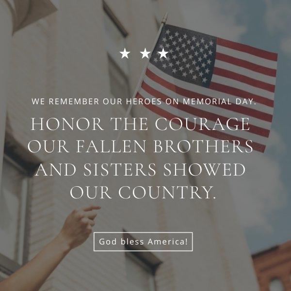 Layout de modelo de folheto do memorial day patriótico