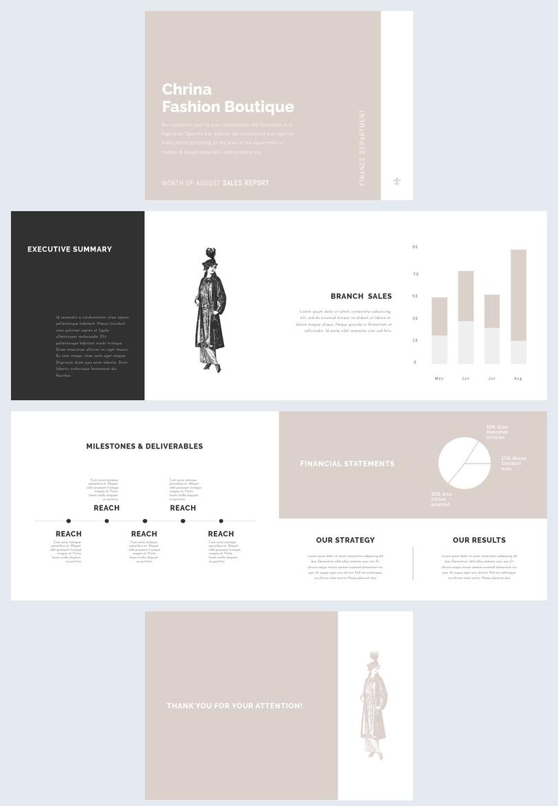 Design de Layout de Relatório Mensal Personalizável