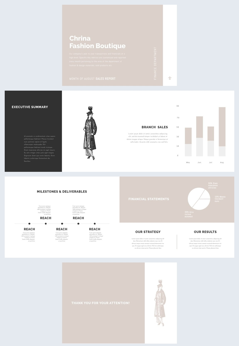 Customizable Monthly Report Layout Design