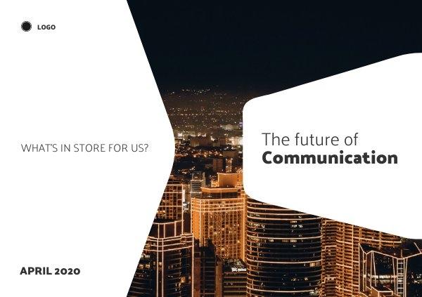 Design de Página de Capa de Apresentação de Tecnologia