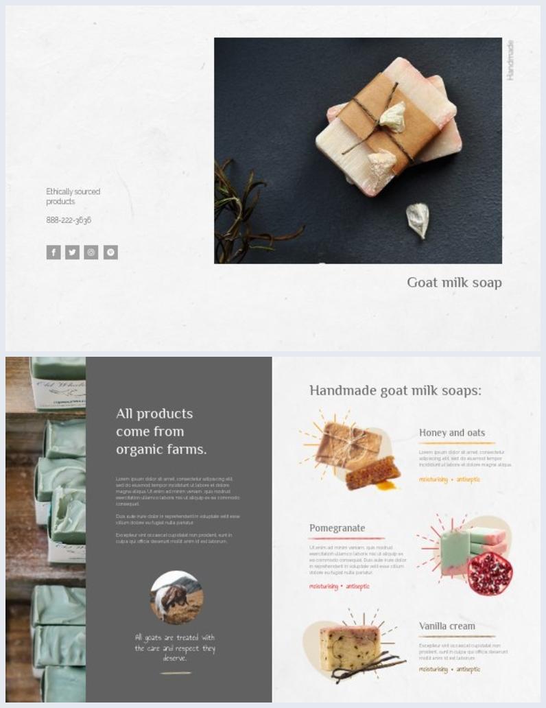 Design de brochure professionnelle à deux volets