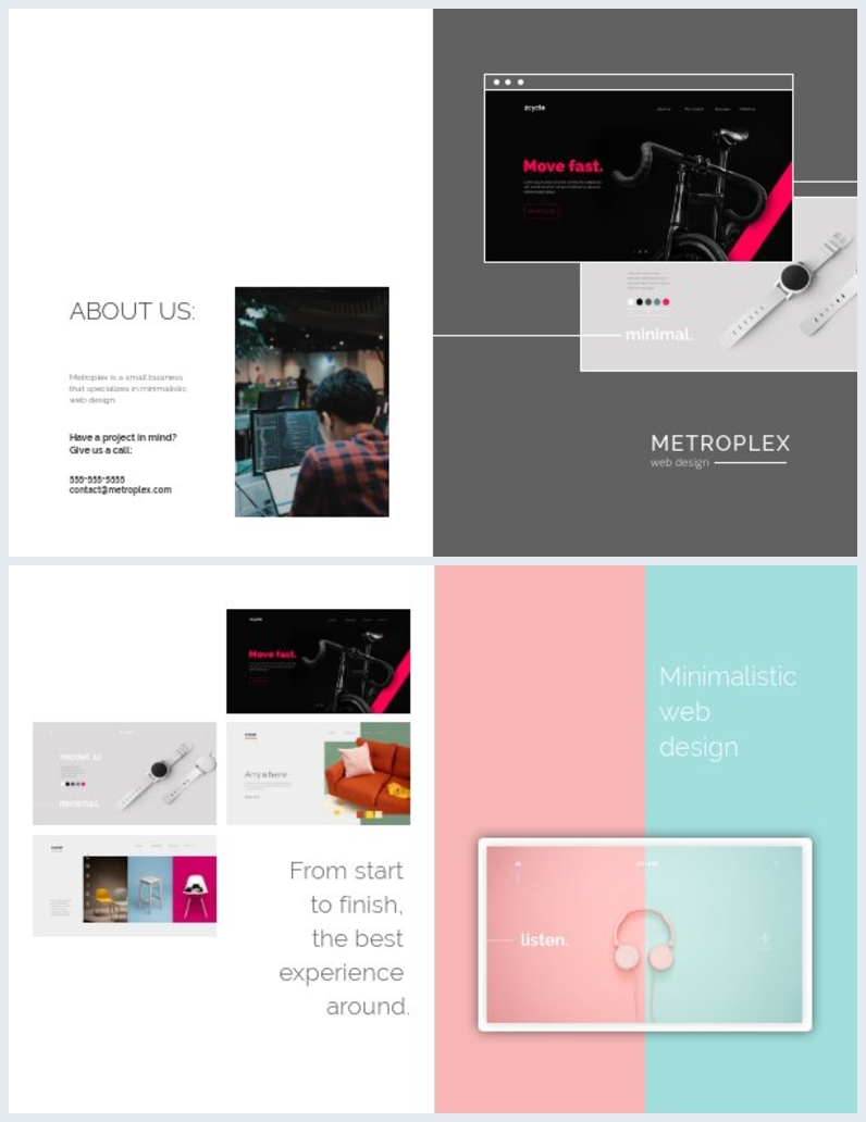 Web Design Bi-Fold Brochure Template Design