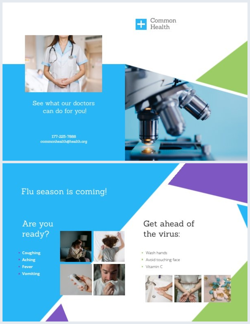 Medische Tweevoudige Brochure Sjabloon Lay-out