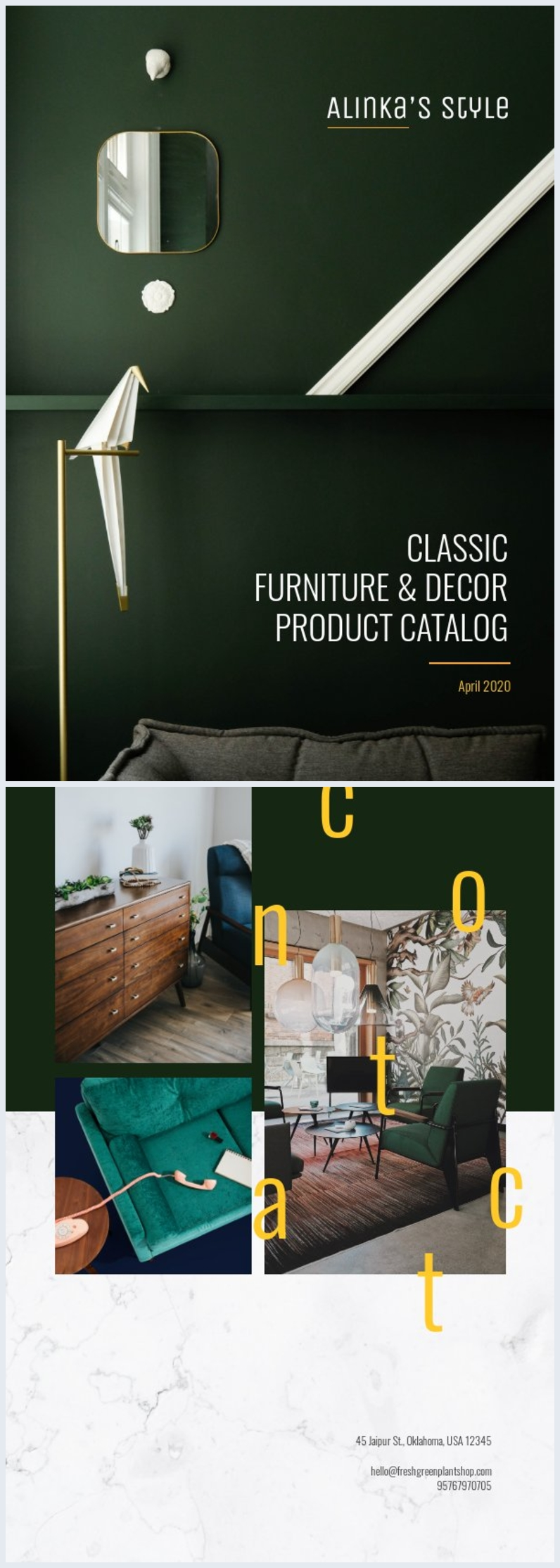 Classic Product Catalog Cover Design