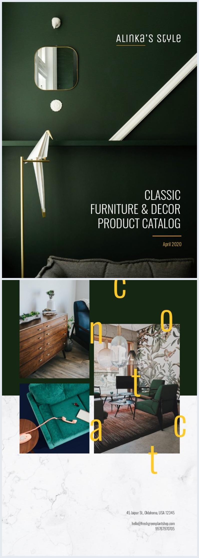 Grafica classica per copertina di catalogo prodotti