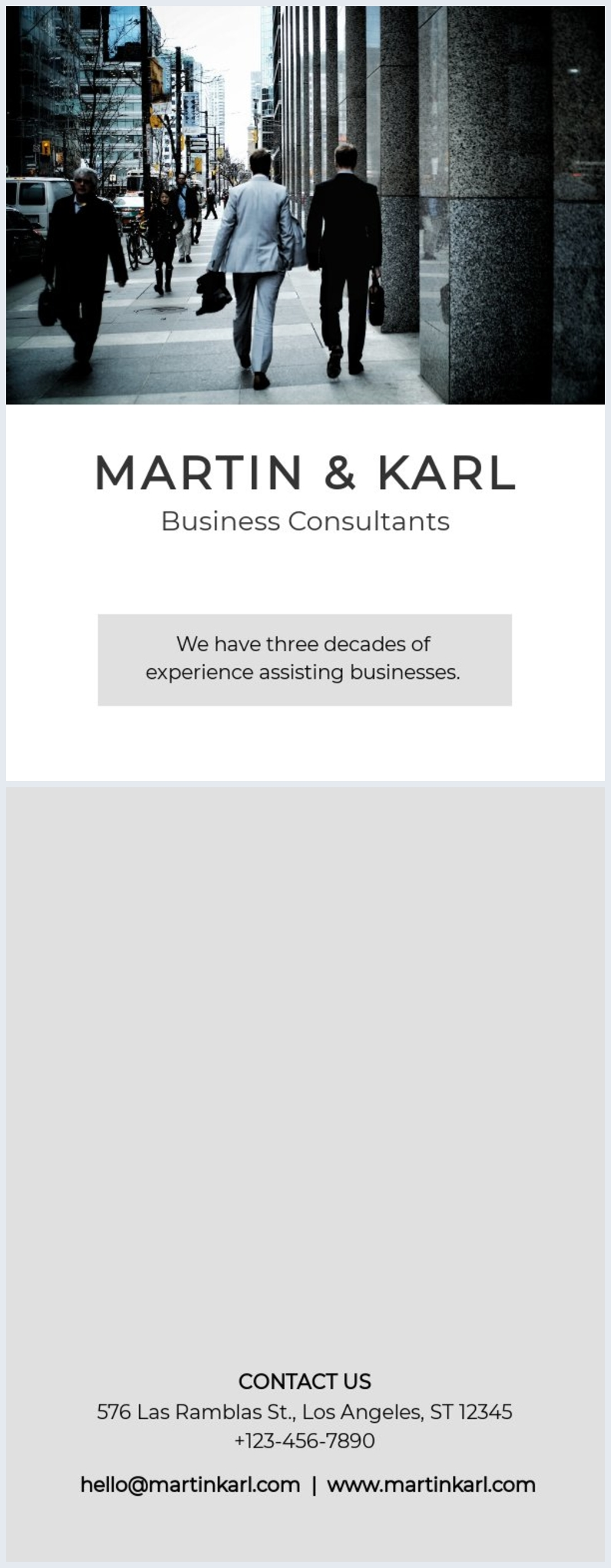 Business Brochure Cover Design Example