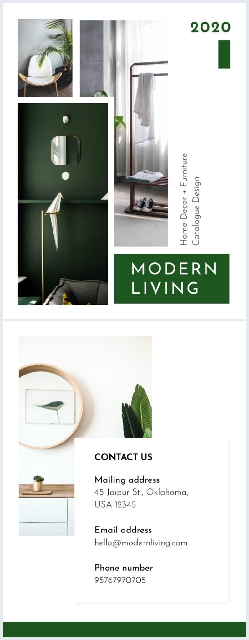 Mise en page de design de couverture de catalogue moderne