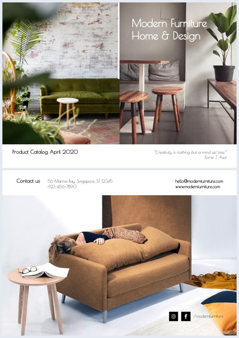 Plantilla para portada de catálogo de Diseño del hogar