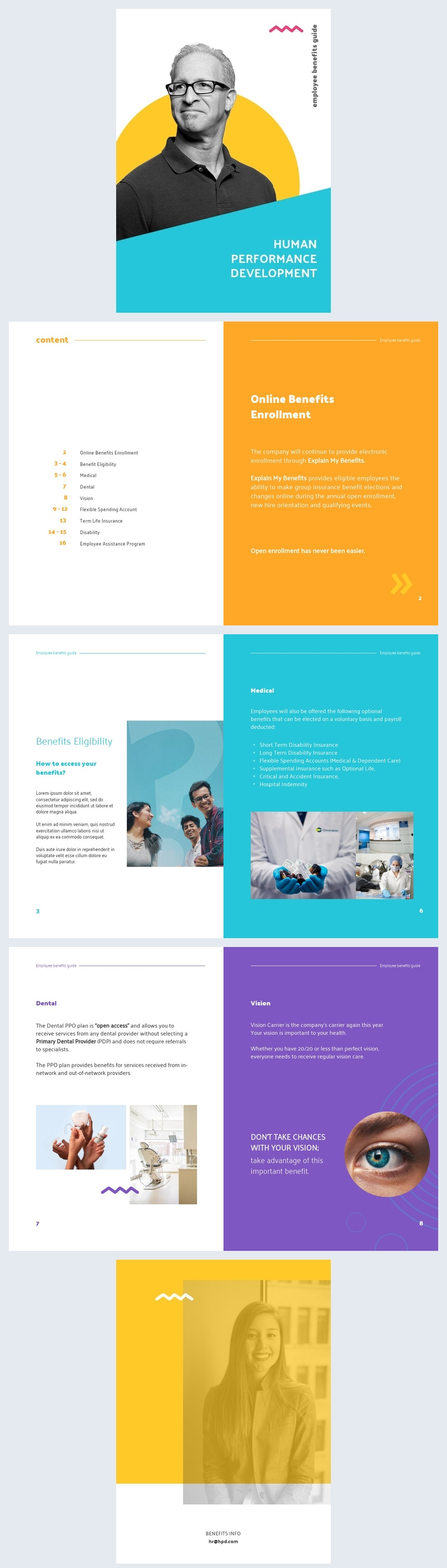 Employee Benefits Guide Template Example