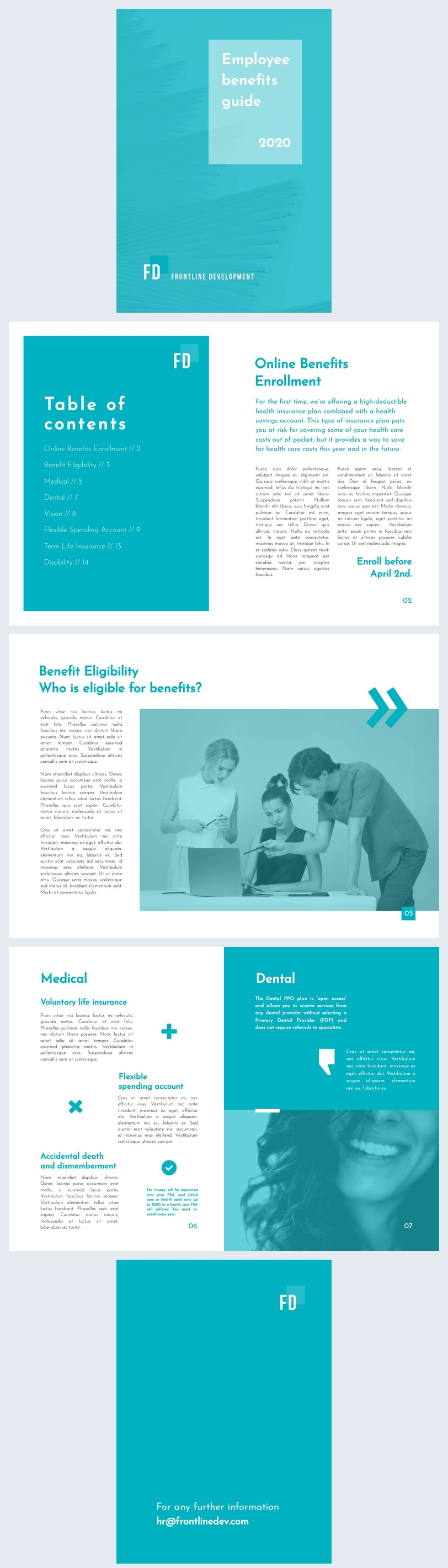 Sample Employee Benefits Guide Template Layout